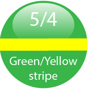 Green with Yellow Stripe Colour 5/4